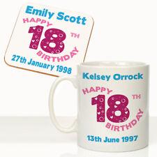 Daughters Nieces Granddaughters Personalised 18th Birthday Mug Coaster Gift Set