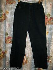 Wrangler Black Jeans 100% Cotton Size 8 RN34783 USA Inseam 28 Waist 26