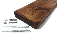 Dark Oak Floating Shelf Chunky Reclaimed Rustic Style Solid Wood 12cm Deep
