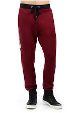True Religion Men's Racer Stripe Active Sweat Pants in Ox Blood w/ Silver