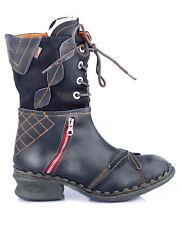 TMA 5707 Damen Stiefel Winter gefüttert Echt Leder schwarz alle Größen 36-42