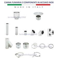 CANNA FUMARIA IN ACCIAIO INOX VARIE MISURE VARI COMPONENTI MADE IN ITALY