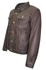 TRUCKER Men's Jacket Real Skipper Leather Classic Western Cowboy Stylish Shirt
