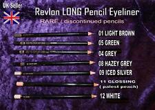 REVLON Eyeliner pencil LIGHT BROWN GREEN GREY SILVER PEACH WHITE rare discont