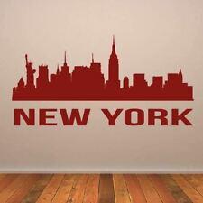 New York USA MANHATTAN Cityscape Skyline Mur Art Autocollant (AS10290)