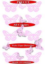 15 Pre-Cut Filigree butterflies Baby Pink edible wafer paper cupcake topper
