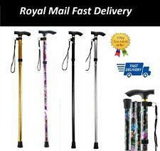 Easy Adjustable Folding Walking Stick Cane Flower Style & Plain Design