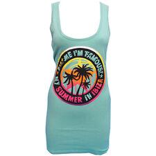 F*** Me I'm Famous Ibiza: David Guetta Palms Logo Womens Vest Tank Top RRP £50