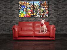 Super Smash Bros Mario CANVAS PRINT Panels Wall Art Decor Giclee Art Tiles CP48
