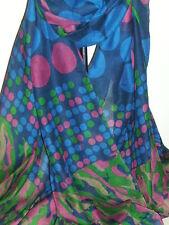 BNWT-Long-Soft Shawl Scarves-Circle/Spot/Camouflage Design-Size-180cm x 110cm