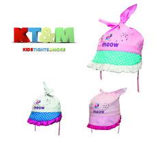 Toddler Girl Summer Cotton Beach Holiday Hat Cap Head Scarf 9-24Months Cute Cat