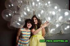 100 X LOTTO chiaro Baloons TRASPARENTE Palloncini Matrimonio & Festa Di Compleanno Decorazione