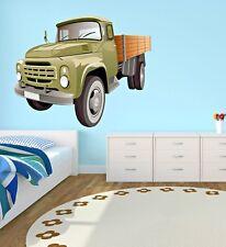 Military Truck Wall Decal Boys Room Art Playroom Decor Sticker Vinyl J399