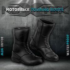 Moto Bota De Cuero Zapatos De Moto Racing Sport Touring Impermeable Blindado