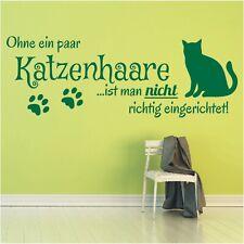 Wandtattoo Spruch  Ohne Katzenhaare Katze Sticker Wandaufkleber Wandsticker 3