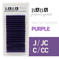 BABA Two Tone Silk Lash (Purple / Red / Blue JBCD Curl 7~13mm) Eyelash Extension