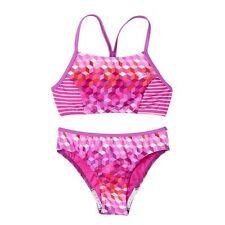 SPEEDO Girls Geometric Design Two Piece Bikini Swimsuit NWT Sz 14 OR 16
