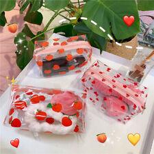 Women Travel Cosmetic Bag Cartoon Transparent Makeup Bags Beauty Organizer Pouch
