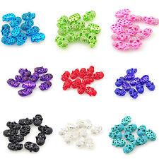 10 Beads Per Pack Skull Faces Crystal Diamante Beads - Bracelet Necklace DIY UK