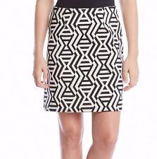 6d7d111157 Karen Kane 1L98205 Citrus Twist Black/White Chevron Jacquard A-Line Skirt -  $88