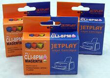 3 Canon Cli8 PHOTO MAGENTA ridotto in schegge Compatibili Cartucce di inchiostro-UK Venditore