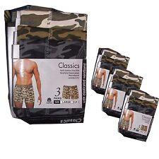 Nuovo 6 o 12 da Uomo Camouflage Pantaloncini Boxer Stampa Militare Classics