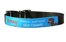 Hundehalsband mit Foto und Namen bedruckt - zwei Größen - variabel verstellbar