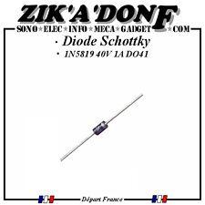 Diode Schottky 1N5819 40V 1A DO41 (Expédié depuis la France) Qté au choix