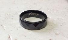 Tungsten Carbide Ring Black Prism Drop Edge Size 9,10,11,12,13,14 (f58)