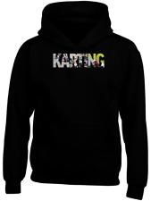 Il Karting Personalizzata Divertente Felpa Con Cappuccio Da Corsa Guida KARTER RACER REGALO Go Kart veloce