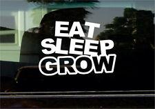 EAT SLEEP GROW VINYL STICKER