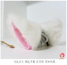 1 pair Lolita Loveless Anime Cosplay long fur Fox ears White Party Neko Cat ear