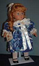 "Lissi Batz Dolls Jenny 21"" Doll Vinyl Cloth 1992 Exclusive/Signed  COA Germany"