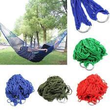 Portable Garden Hammock Mesh Net Hang Rope Travel Camping Outdoor Swing Bed TL