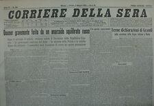 """"""" CORRIERE DELLA SERA """" N°109  del  SABATO 7 MAG.1932 ( ORIGINALE D'EPOCA ! )"""