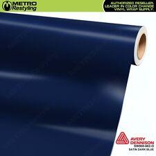 Avery Supreme SATIN DARK BLUE Vinyl Vehicle Car Wrap Film Roll SW900-682-O