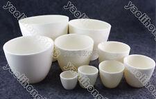 Alumina Aluminum Oxide Ceramic Cylinder Crucible 5ml-3000ml 1800 °C