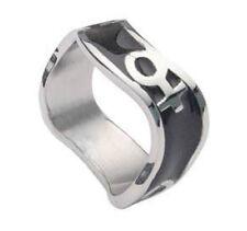Pride Shack - Venus Female Black Steel Wave Ring - Womens Ladies Lesbian Pride