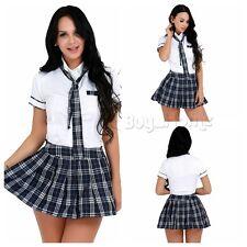 Women Japanese Short Sleeve Sailor School Uniform Cosplay Lingerie Costume Skirt