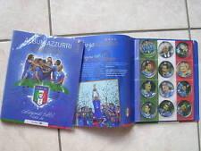 ALBUM COMPLETO 35 DISCHETTI AZZURRI SUDAFRICA 2010 CARREFOUR OFFICIAL ITALY