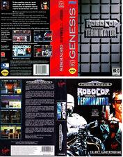 Robocop vs Terminator UE nos Sega megadrive caja de sustitución Arte caso inserto REPRO