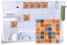 Fliesenaufkleber Fliesenbild Fliesen Aufkleber Fliesenimitat Mosaik Orange
