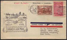 CANADA-IRELAND1934 1st FLIGHT SHEDIAC TO FOYNES OFFCIAL