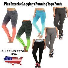 Women Plus Exercise Leggings Running Yoga Sports Fitness Spandex Training Pants