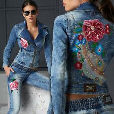 BY ALINA 2-Teiler Jeans Damen Hose Jeansjacke Röhrenjeans 32 - 36 #B559