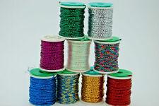 Tinsel, Hilo, Oropel Redondo, Carrete Grande para Montaje de Moscas, 9 Colores