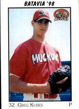 1998 Batavia Muckdogs Team Issue #14 Greg Kubes East Bernard Texas Baseball Card