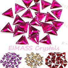 Eimass ® Coser O Pegamento En Resina Cristales, parte posterior plana forma de triángulo Gemas Para Disfraz