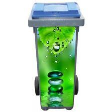 Stickers poubelle déco Feuille goutte d'eau 3241 Art déco Stickers