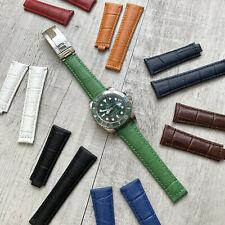 Genuine Leather Watch Strap Band 20mm For Rolex Daytona Submariner GMT Datejust